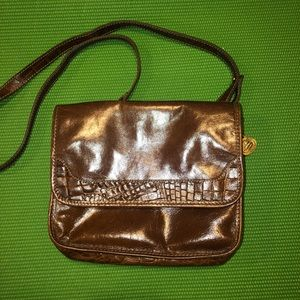 Vintage Brown Brahmin crossbody purse